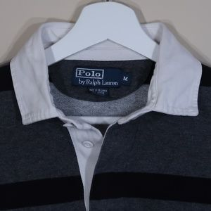 Polo by Ralph Lauren Shirts - Polo by Ralph Lauren Striped Gray Long-Sleeve Polo